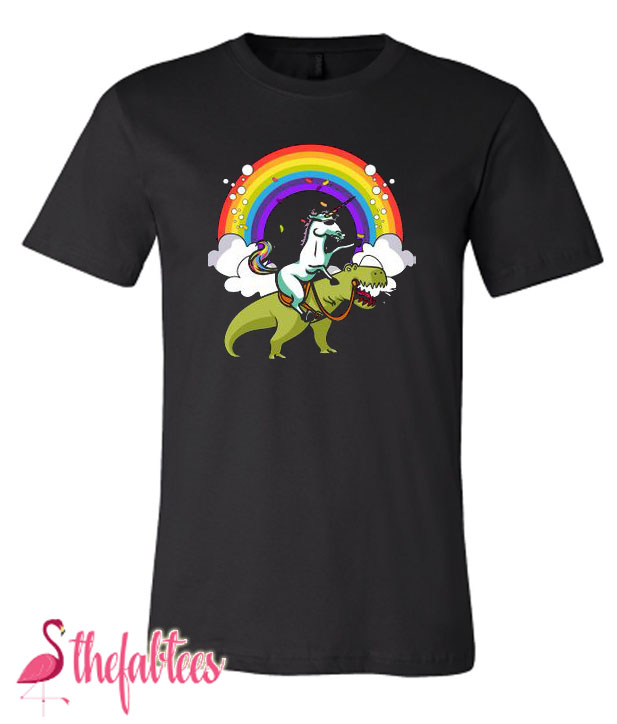 Unicorn Riding T rex Fabulous